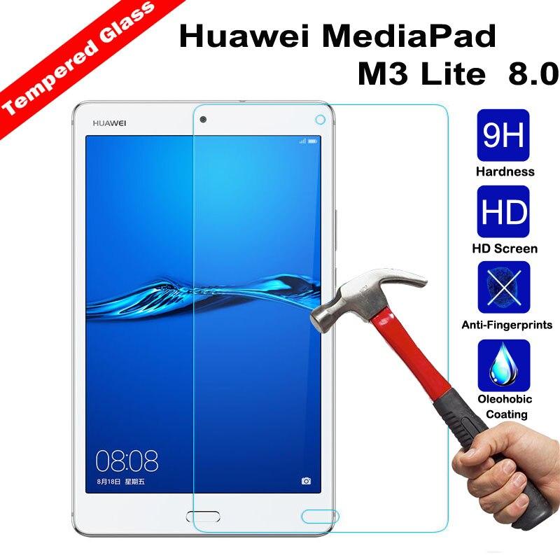 XSKEMP 2 шт 9H Защитная пленка для планшета 8,0 Huawei MediaPad M3 Lite Противоударная защитная пленка из закаленного стекла