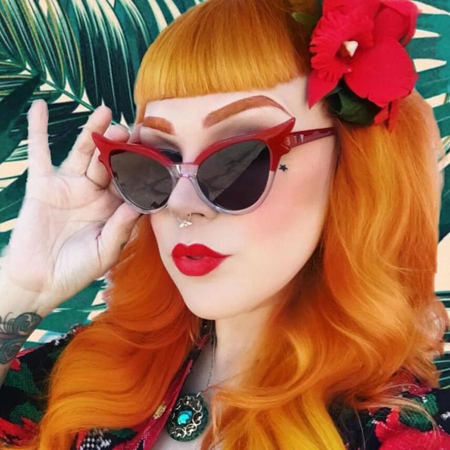 Фантастические велосипедные очки Ретро винтажные очки кошачий глаз унисекс солнцезащитные очки Рэппер гранж очки Новые солнцезащитные очки