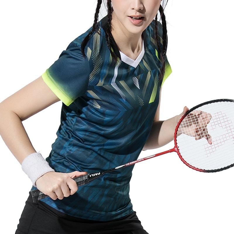 Novedad 2018, camisetas de tenis secas Qucik para mujer, camisetas deportivas, camisetas de tenis, camisetas de bádminton, ropa de tenis, camisetas deportivas