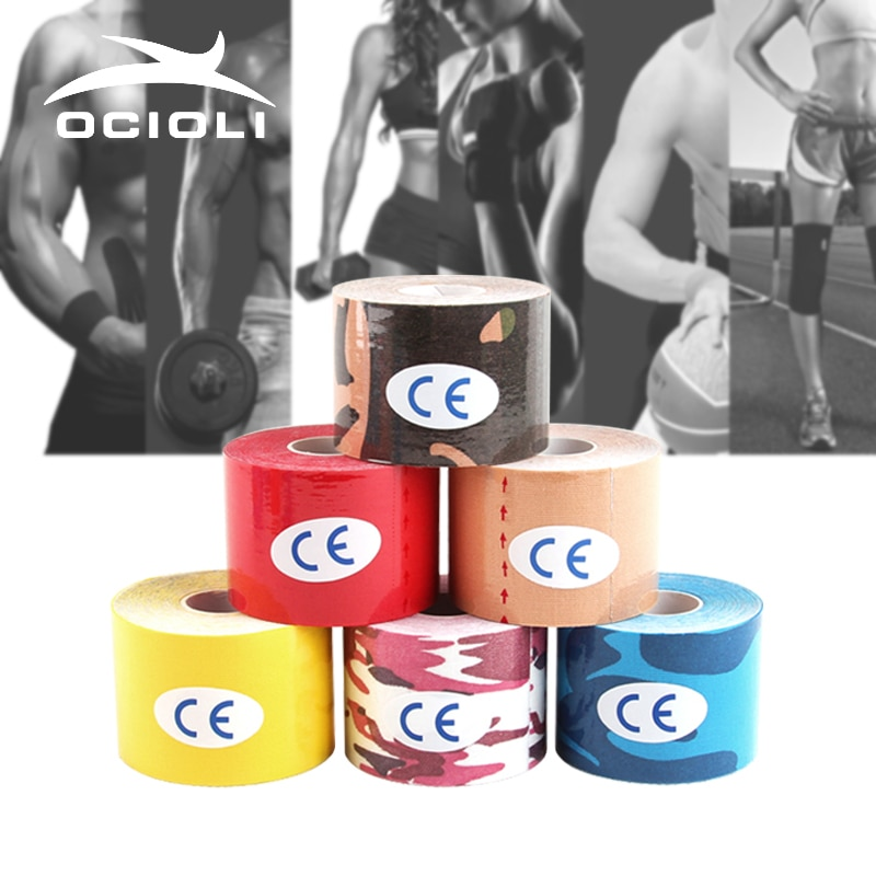 10 pces kinesiotape tex fitas atléticas cinesiologia esporte taping cintas de futebol exercício muscular fita de basquete joelheiras