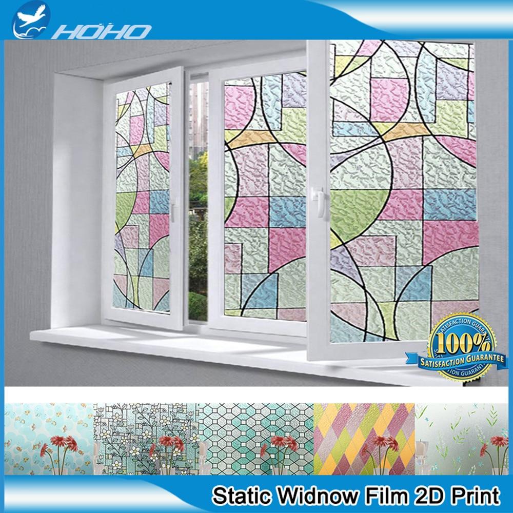 Película de ventana estática 2D de 92cm x 500cm tinte decorativo de ventana de privacidad para vidrio, baño, dormitorio impermeable 36 x 196,8