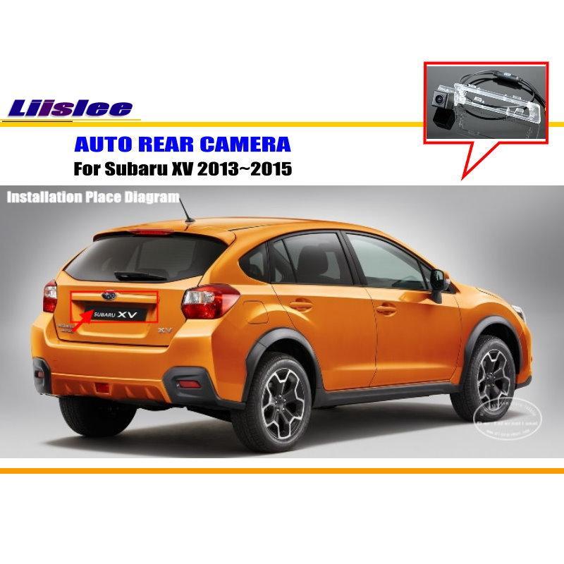 liislee rear view camera for peugeot 408 2014 2018 reverse hole parking back up camera night vision Liislee Back Up Parking Camera For Subaru XV 2013~2015 / Car Reverse Rear View Camera / HD CCD RCA NTST PAL / Reverse Hole OEM
