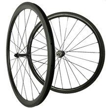 Chine usine petit gros 700C pneu tubulaire 23mm largeur 38mm profondeur 3 K UD mat ou brillant roues de vélo de route en carbone
