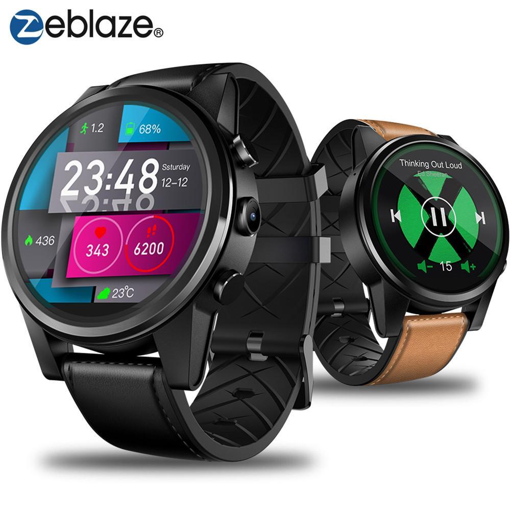 1.6 Inch 4G Smart Watch Brace Crystal Display GPS/GLONASS Quad Core 16GB 600mAh Hybrid Leather Straps Smart Watch For Men Women