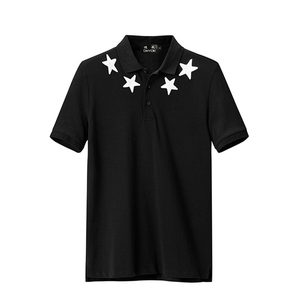 Männer Polo Shirt Männer Star Stickerei Polo Homme Muster Polo Camisa Hemd Masculina Neue Ankunft Polo Shirts Männlichen