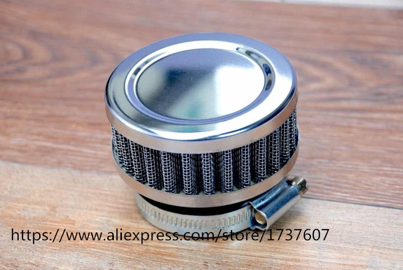 1 pçs anel inoxidável filtro de ar da motocicleta 46mm 48mm 50mm 52 54mm 60mm mais limpo para sr400 cb550 cb750 kawasaki kz650