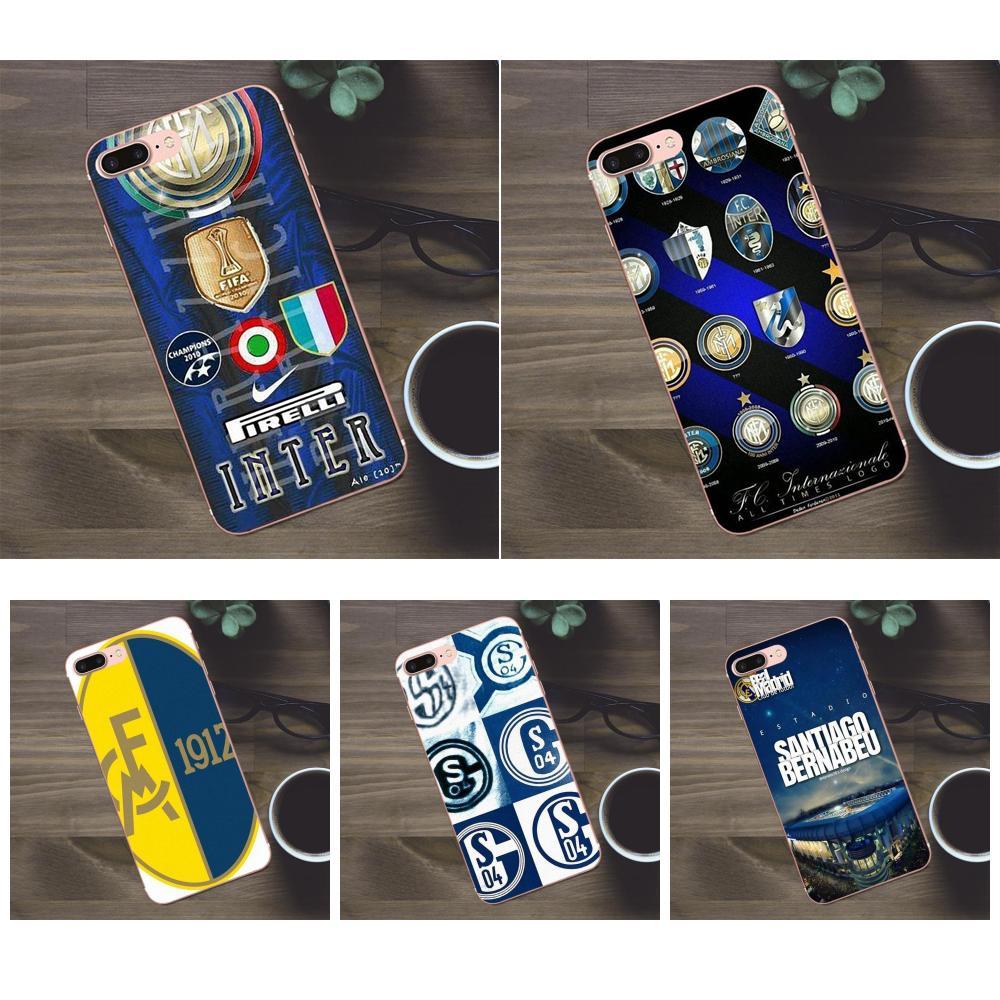 Suave Quinn Teléfono para Apple iPhone 4 4S 5 5C SE 6 6 S 7 8 Plus X Galaxy A3 a5 J1 J2 J3 J5 J7 2017 Internazionale Fc Logotipo de fútbol
