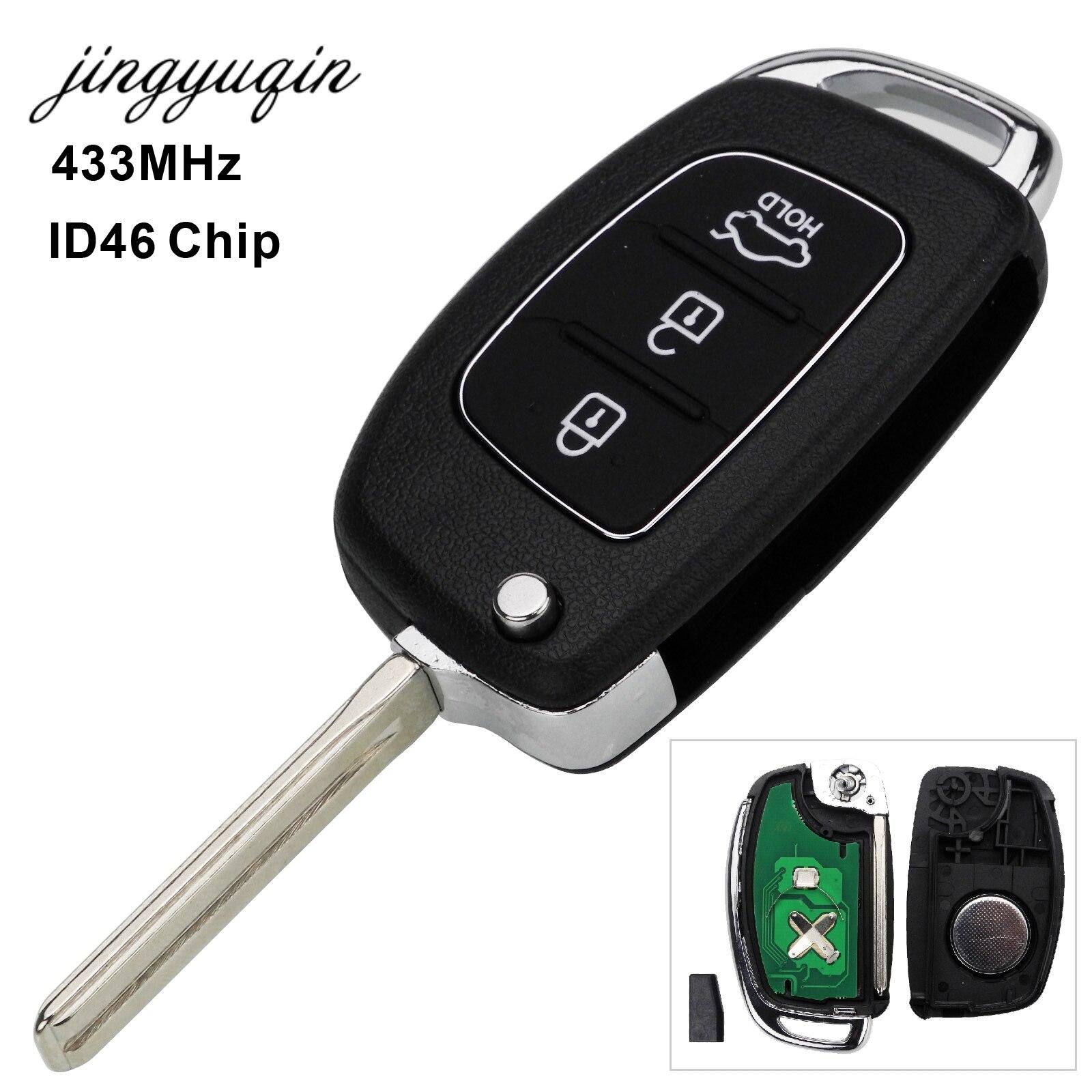 Remote Key Fob 3 Tasten 433Mhz ID46 Chip Für Hyundai Neue IX35 IX25 IX45 Elantra Santa Fe Sonata TOY40/HY20/HY14 Fob Control