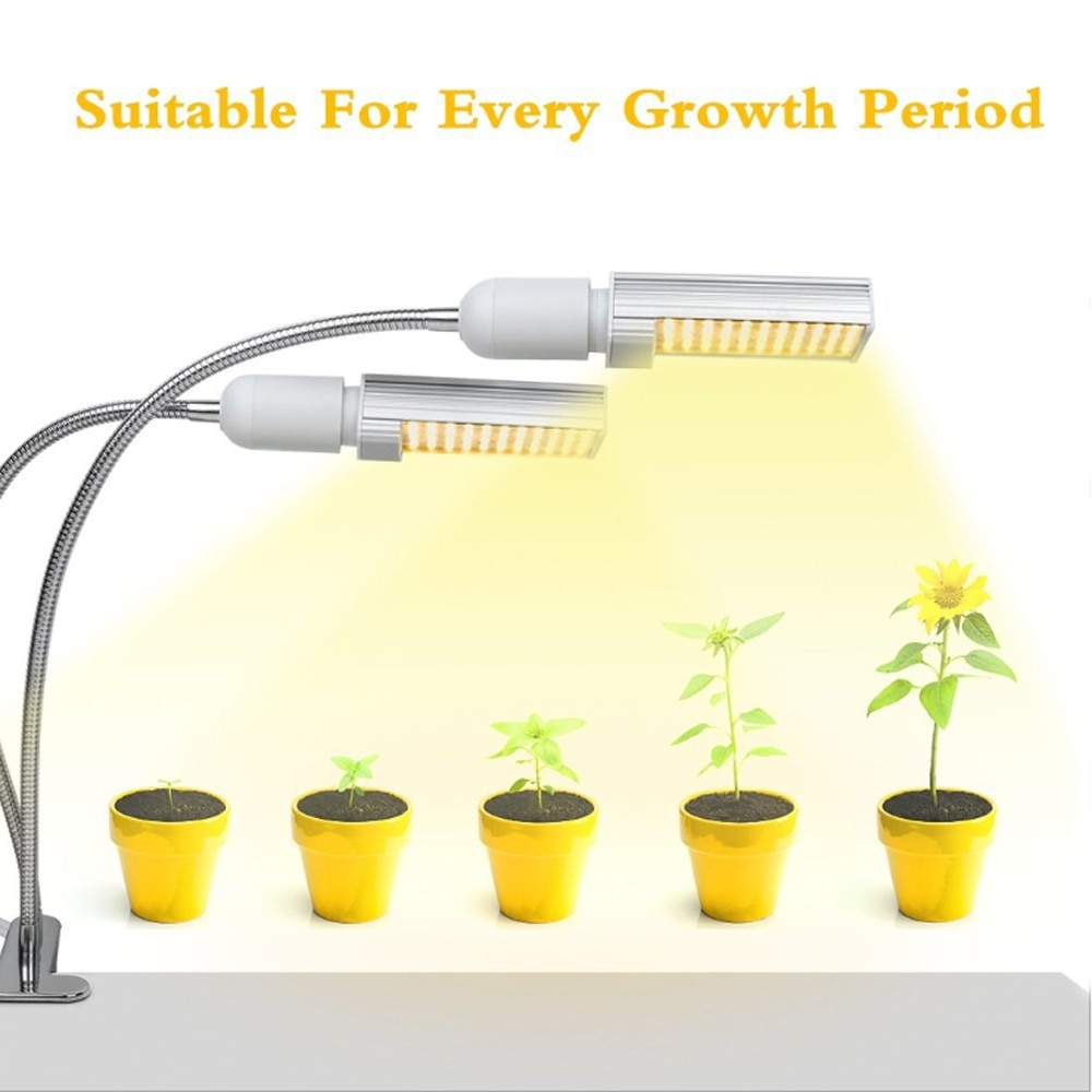 Amazon venta al por mayor phyto lámpara regulable luz LED para cultivo de plantas 45W lleno espectro para planta de interior de plántulas de fitolampy