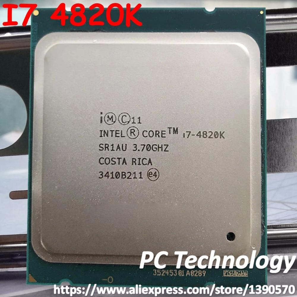 Procesador Intel core i7-4820k (3,7 Ghz/10MB/4-cores/130W/22nm) LGA2011 CPU de escritorio, envío gratis, i7 4820K