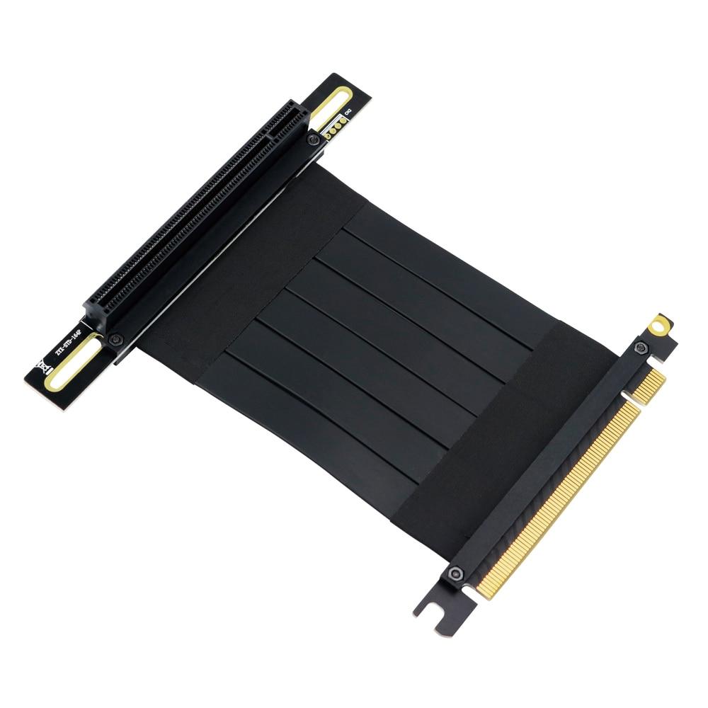 BTBcoin Extender PCIE Riser PCI E 16X Riser Graphics Cable x16 1ft 3ft For Tt itx Case GTX1080TI firepro w7100 radeon pro wx5100