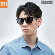 Gafas de sol cuadradas clásicas Xiaomi Mijia, lentes polarizados TAC, gafas de sol de una sola pieza, diseño retro, marco ligero sin tornillos