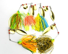 Nouveau 5 pièces pêche Spinner leurres basse manivelle appâts attirail manivelle crochet Spinner Spinnerbait brochet basse 17G