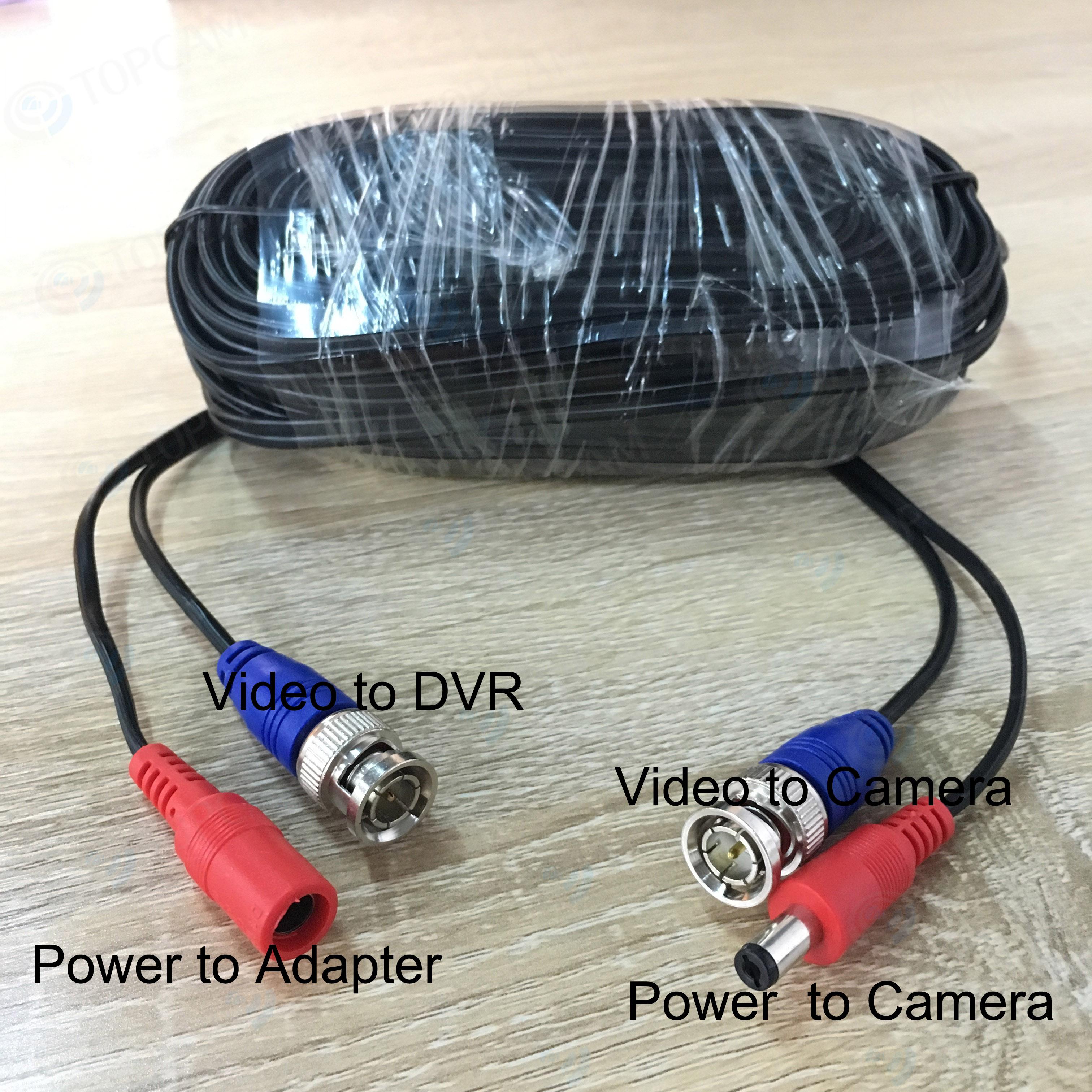 Кабель BNC DC для камеры видеонаблюдения 100 футов/18 м аксессуары систем