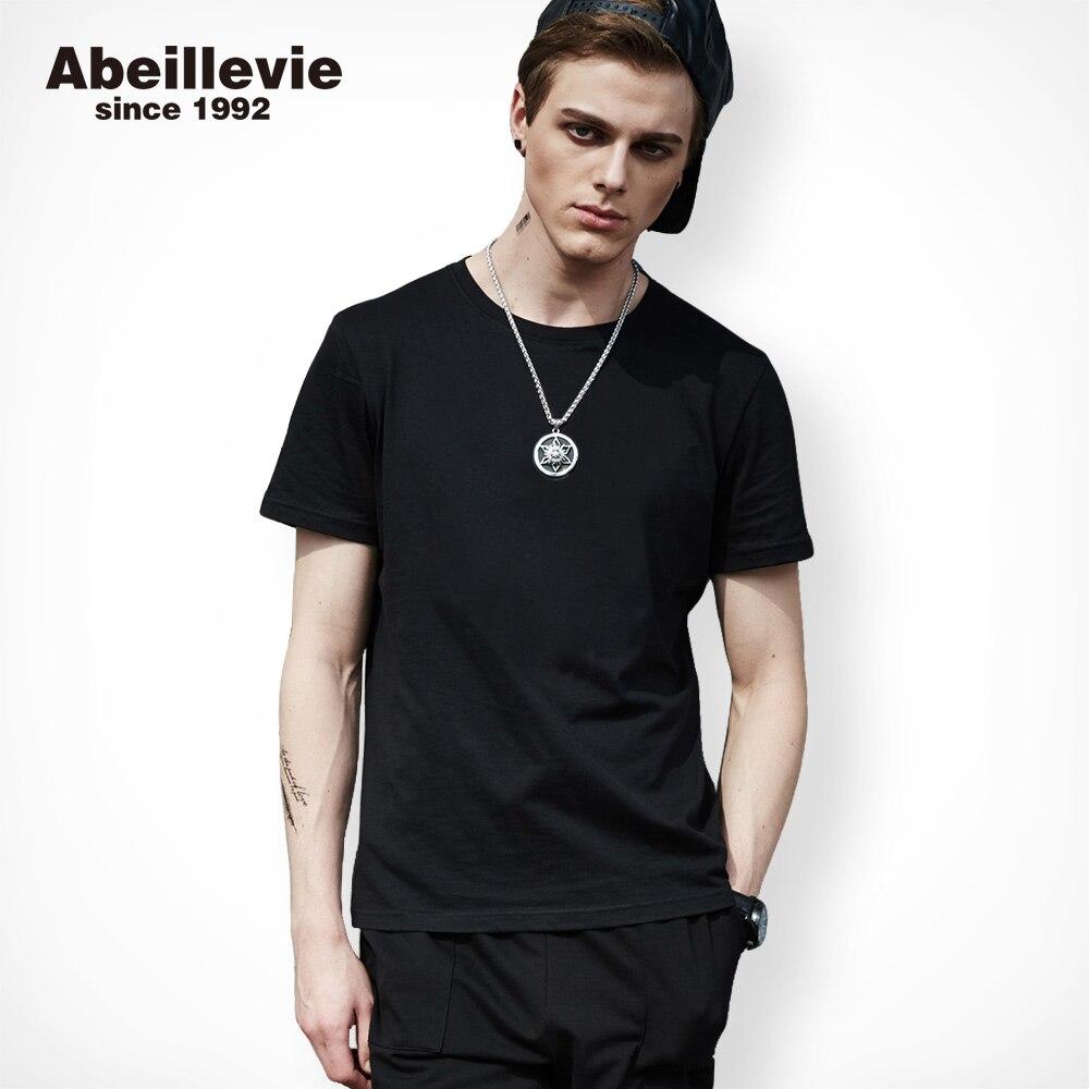 Abeillevie 2017 Nuovi Uomini maglietta del Cotone di Modo per uomo casual cotone t-shirt uomo big alto crew t-shirt di marca clothing 1701