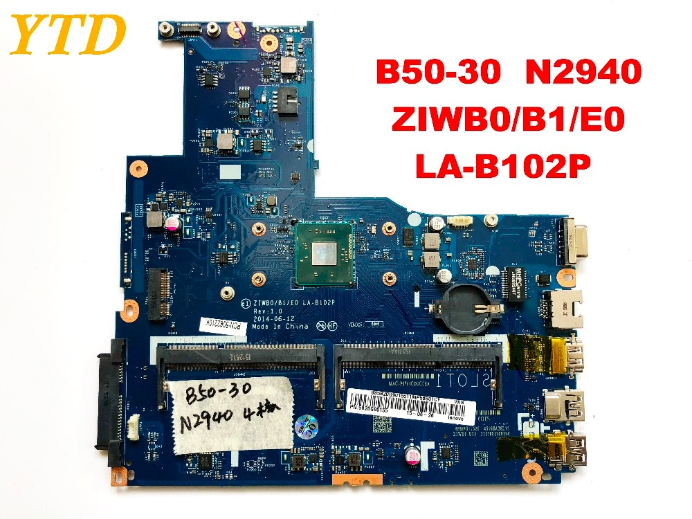 Placa base Original para ordenador portátil Lenovo B50-30 B50-30 N2940 ZIWB0 B1 E0 LA-B102P probado envío gratis