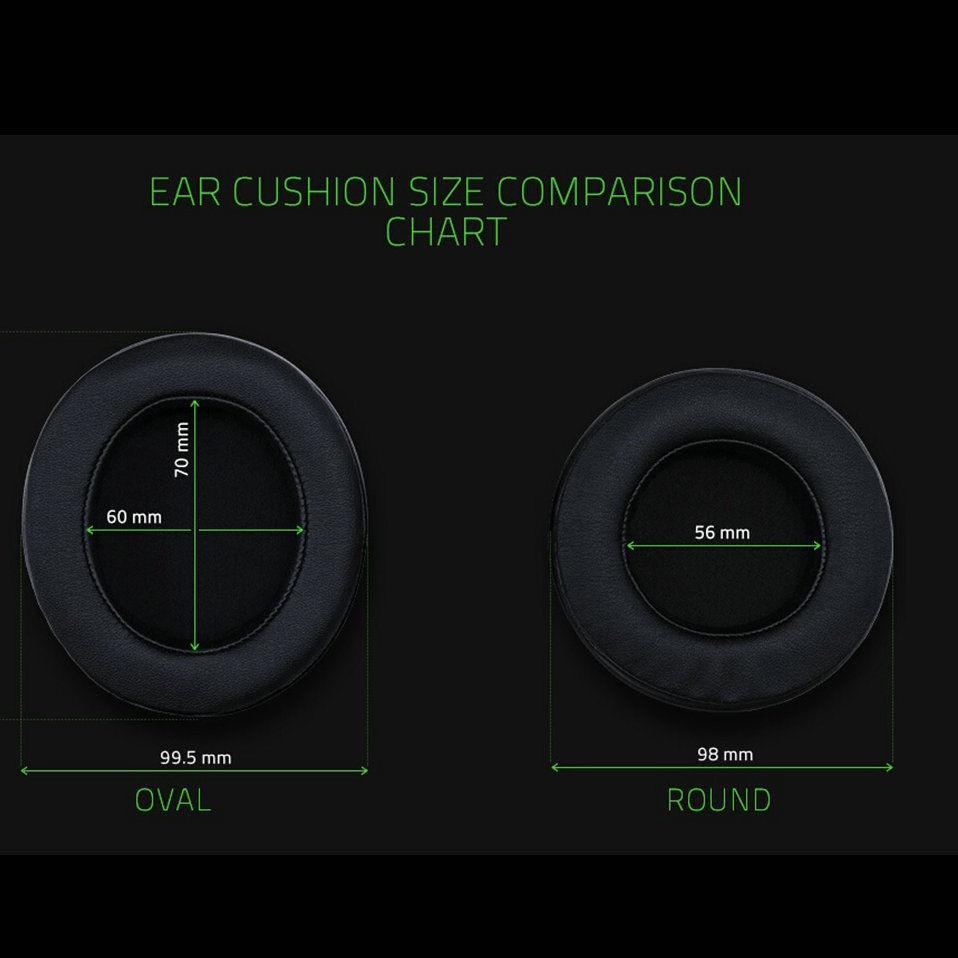 Almohadilla ovalada redonda para auriculares Razer Kraken 7,1 Pro Chroma V2 USB de Gaming