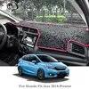 Voiture style Silicone Anti-soleil tapis voiture tableau de bord couverture protéger Pad couverture pour Honda Fit Jazz 2014-présent LHD & RHD accessoire