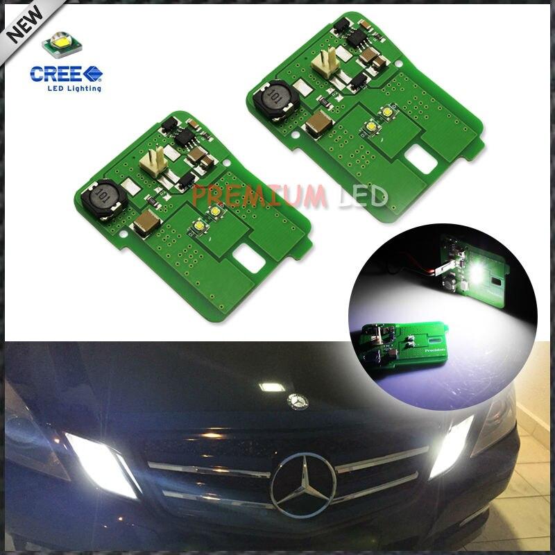 2 قطعة HID مطابقة الأبيض LED وقوف السيارات موقف ضوء الجمعية ل 2010-13 مرسيدس W212 E-Class E350 E550 E63 AMG قبل LCI
