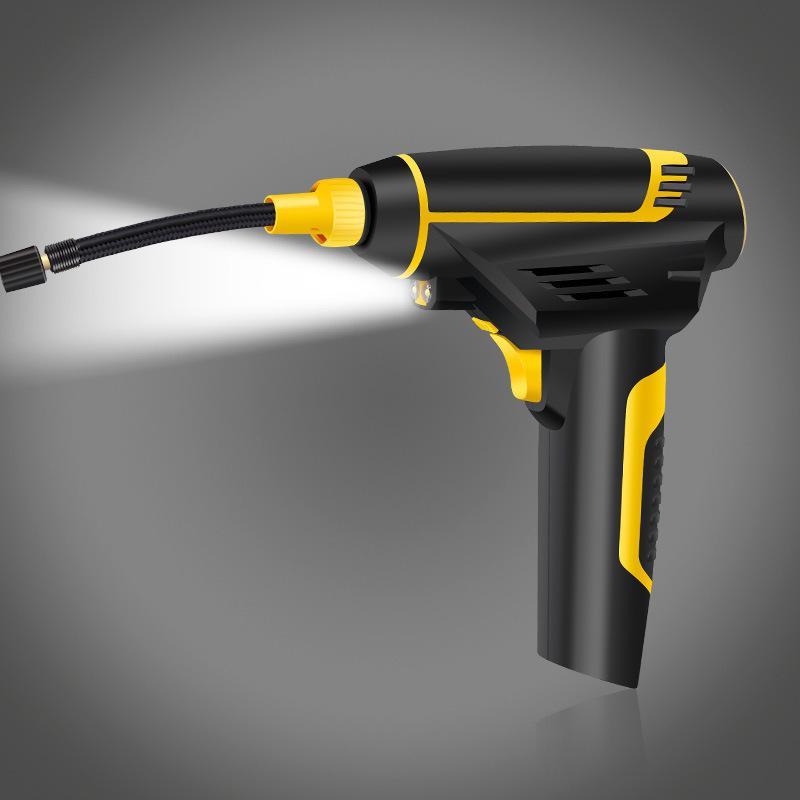 Bomba de compresor de aire portátil para coche inflador recargable Inflador de mano inflado de neumáticos con luz LCD Digital USB cargador kompresor