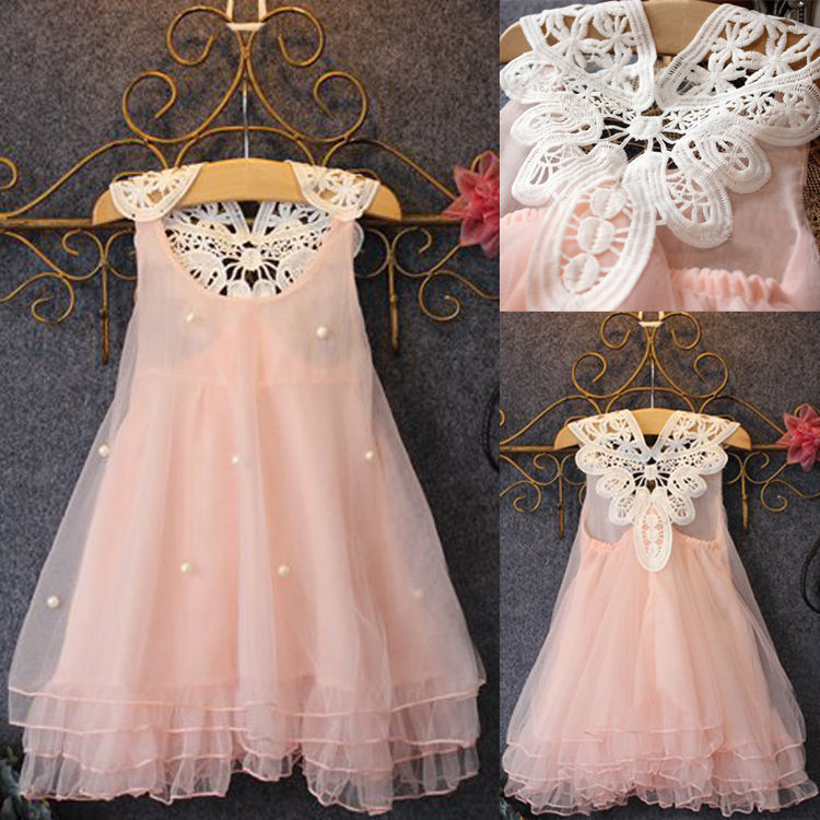 Vestido de niña 2-14Y ropa de bebé niña verano encaje flor tutú princesa chico s vestidos para niñas, vestido infantil, chico ropa