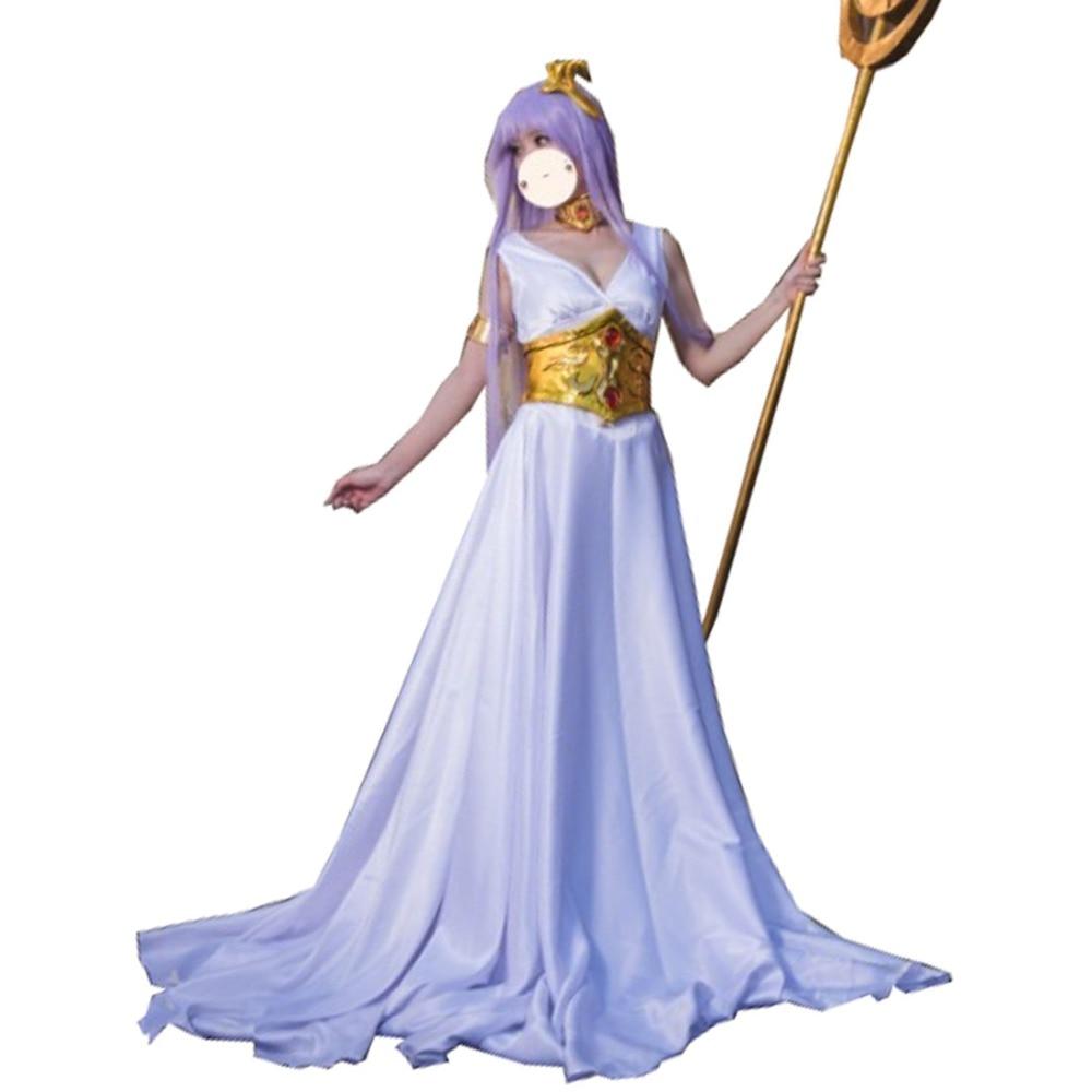 2019 святая Сейя мистическая одежда Legend of убежище Косплэй костюм косплей-костюм Афина Косплэй платье