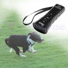 Ultrasonic Dog Chaser Stops Aggressive Animal Attacks Repeller w/ Flashlight