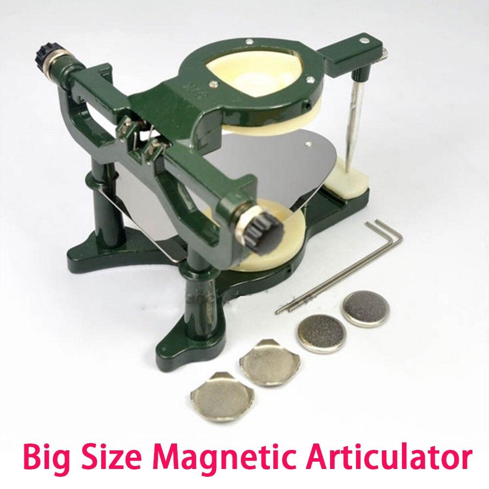 Nuevo articulador de prótesis Dental magnético de alta calidad, equipo de laboratorio de gran tamaño, disponible en Color verde y azul