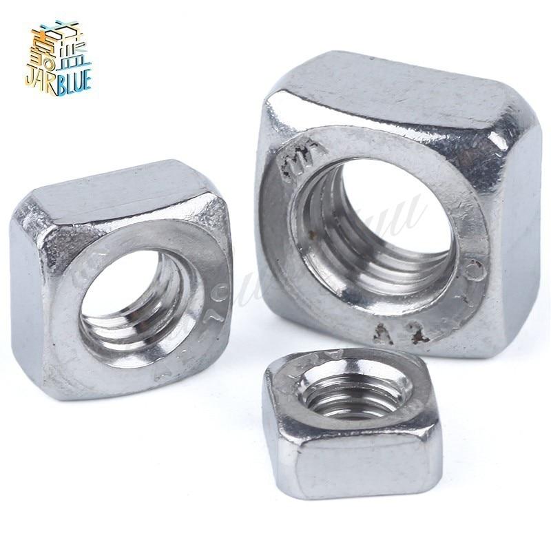 5/10/50Pcs  DIN557 GB39 M3 M4 M5 M6 M8 M10 M12 304 Stainless Steel Square Nut (NOT Cheap Galvanization)