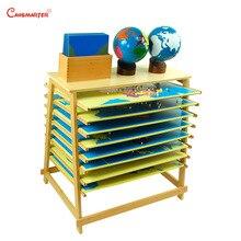 Cartes du monde Puzzle conseil avec cadre ensemble Montessori enseignement jouets éducatifs enfants Globe avec boîte hêtre bois jouet enfants GE005-S3