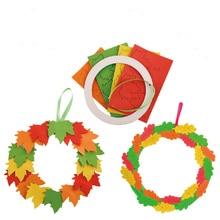 Enfant jouet bricolage maternelle EVA feuilles suspendus anneau carte de voeux tôt éducatif fête des mères cadeau jouets fille artisanat enfants
