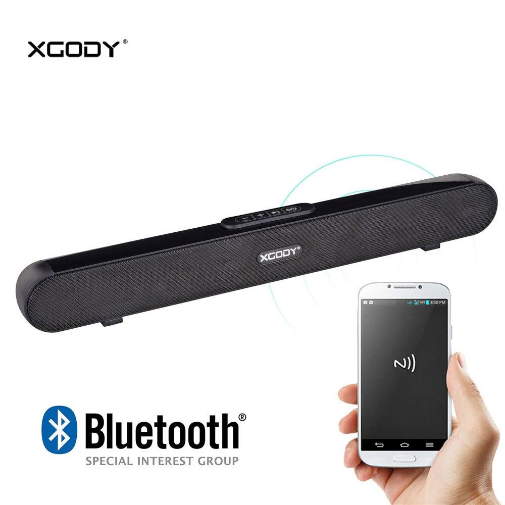 Xgody-altavoz con Bluetooth y barra de sonido portátil, barra de sonido Aux para cine en casa, cine en casa, Systerm, Tv, música, películas, ordenador y teléfono inteligente, 10w