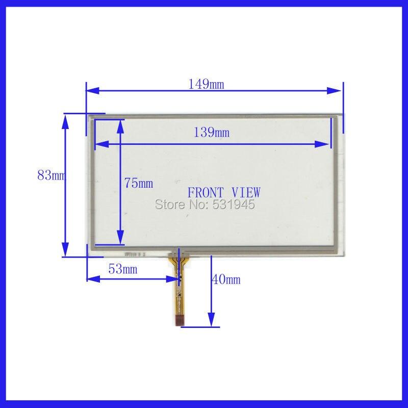ZhiYuSun 6,1 pulgadas 149mm * 83mm pantalla táctil de 4 cables para vidrio gps en LG LA061WQ1 pantalla panel táctil 149*183 XWT318