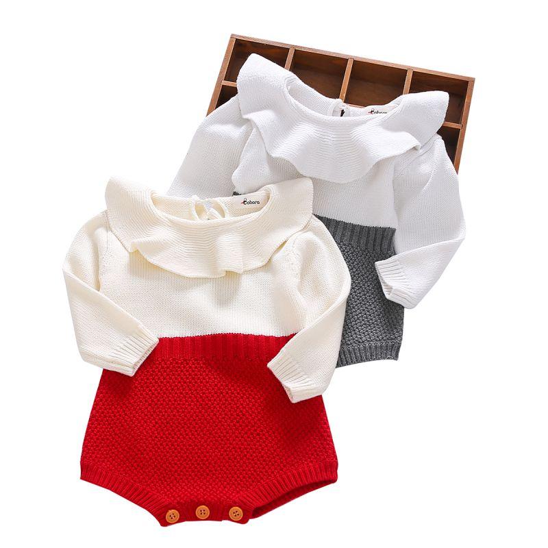 Bebé recién nacido Ropa de niña pantalones de lana Tops de manga larga mameluco cálido trajes niñas ropa de bebé