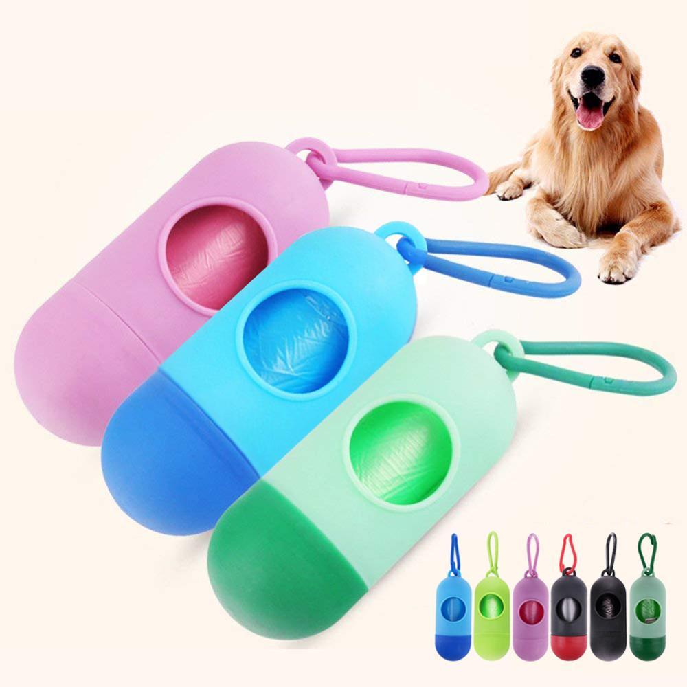 Одноразовые мешочки для домашних собак, мини-контейнер для экскрементов, пакет для экскрементов плюс мешок, мешки для мусора от домашних животных, аксессуары
