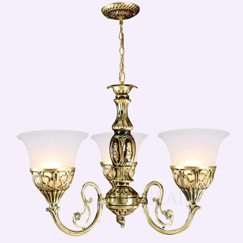Lámpara de cristal colgante para el hogar europea de 1/3/5/9 cabezas para sala/comedor/dormitorio