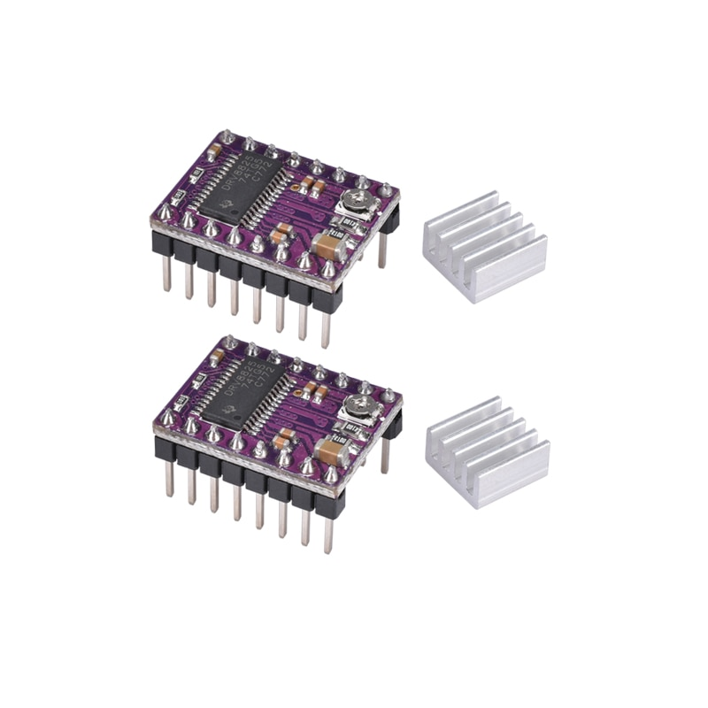 Драйвер шагового двигателя BIQU StepStick DRV8825 DRV 8825, Ramps 1,4, Reprap 4, модуль PCB, замена A4988 с радиатором, детали 3D