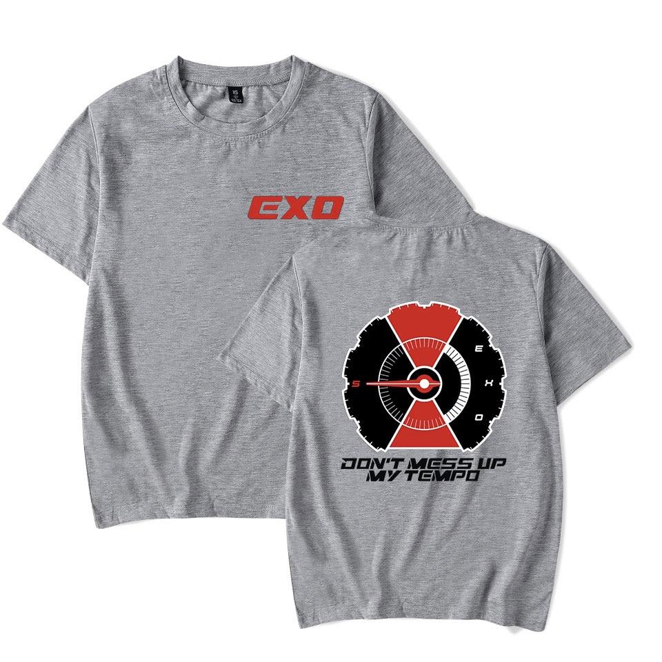 Kpop EXO Kay Sehun Xiumin Baekhyun Terra Aufkleber T-shirt Frauen T-shirt Frauen EXO T-shirt Harajuku Fans Top T Sommer T shirt Top