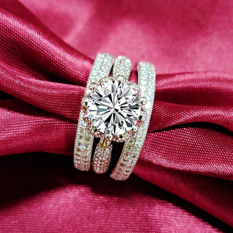 2020 novo desgin preto sexta-feira anéis de casamento conjunto nupcial clássico anel de banda de noivado para mulheres jóias de luxo r5351