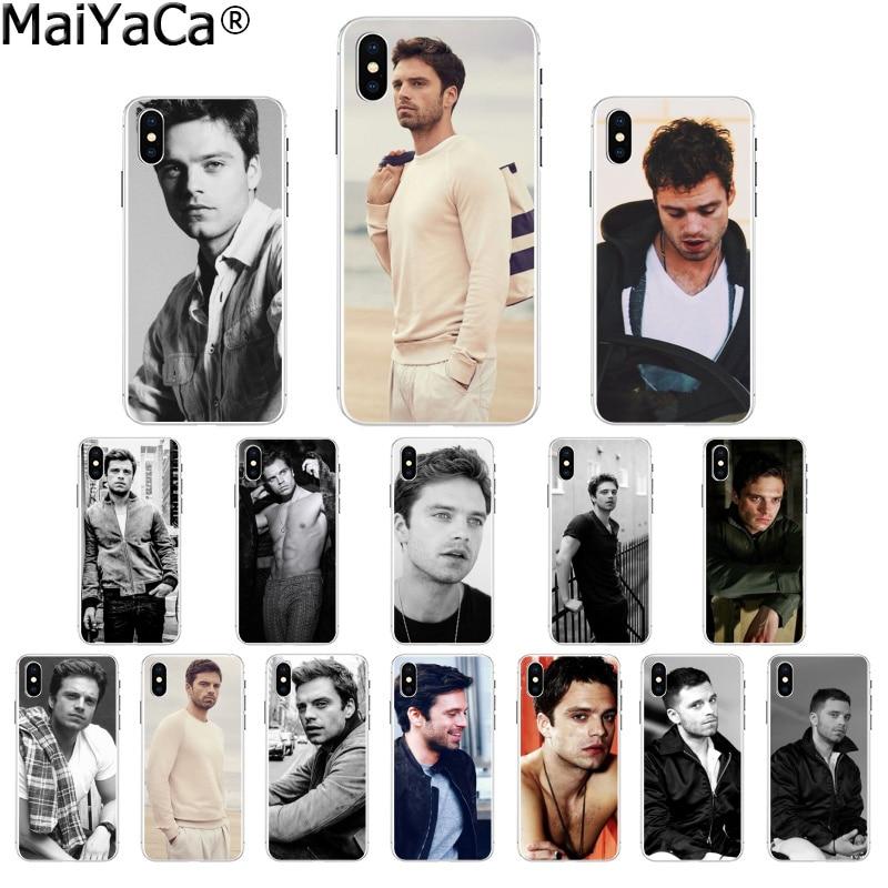 Maiyaca sebastian stan tpu transparente caso de telefone capa escudo para apple iphone 8 7 6 s plus x xs max 5 5S se xr capa móvel