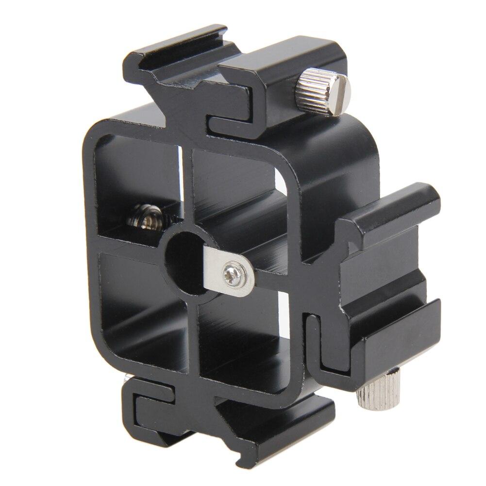 Тройное Крепление-адаптер для горячего башмака, 3 в 1, цельнометаллическое Крепление-адаптер для горячего башмака, держатель для вспышки, осветительная подставка, держатель для зонта