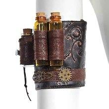 Corstory bracelet Vintage en simili cuir Steampunk avec bouteilles et engrenages victorien gothique Burlesque Costume Corset accessoires