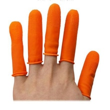 100PCs ABESO antiskid durable antislip latex oranger finger cots antislip for counting cleaning Elec
