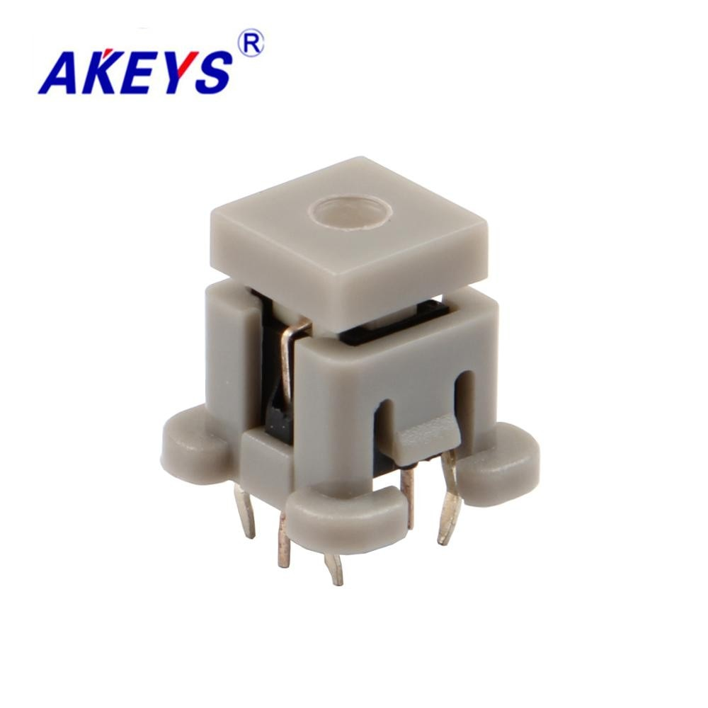 5 pces TS-H009 6*6*9 tato interruptor 4 pinos dip tipo com led botão interruptor TS-LS-003