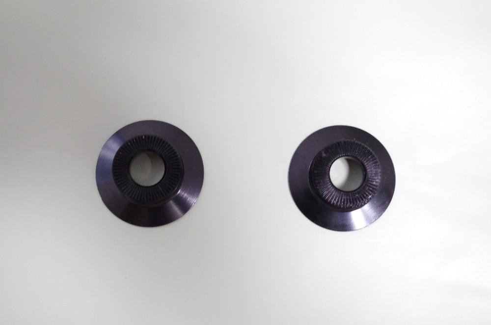 De 2 piezas tapas lado tapas para Powerway R36 frente Hub negro rojo