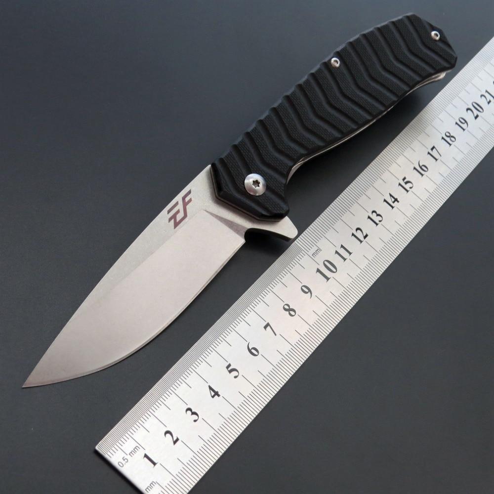 Eafengrow EF62 D2 mango de acero G10, cuchillo plegable de bolsillo, cuchillo táctico para acampar al aire libre, Navajas de bolsillo de utilidad básicos de caza