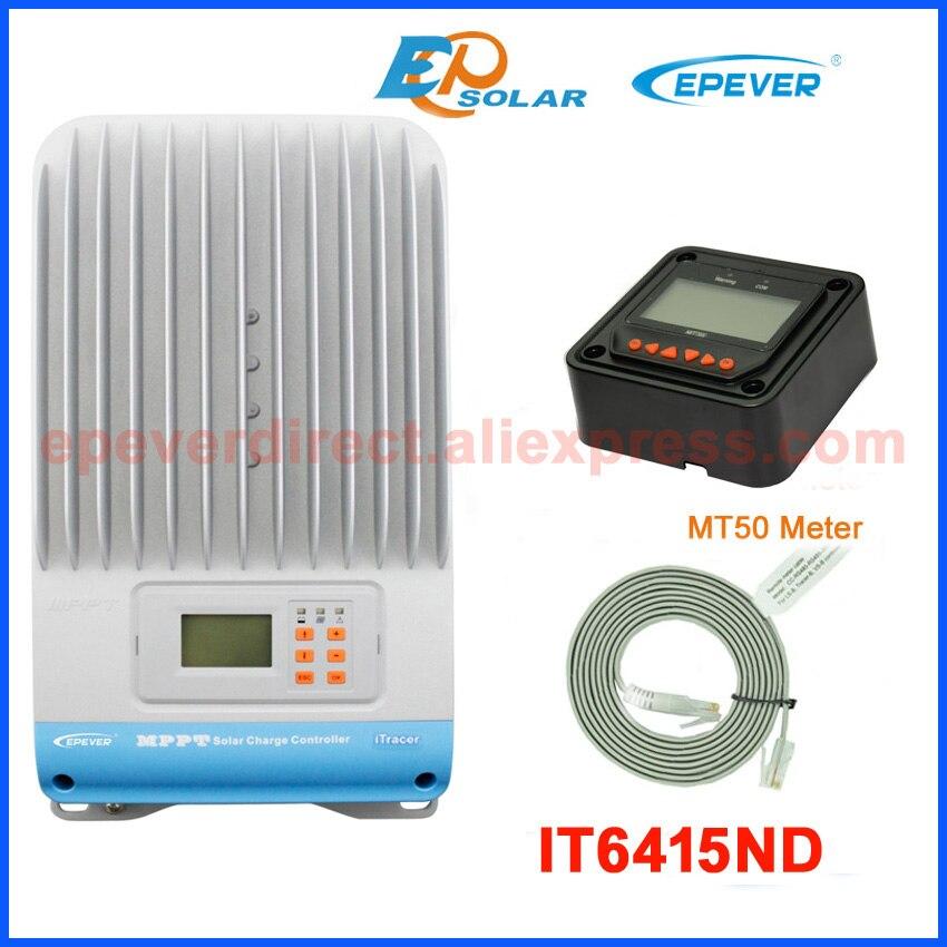 Cargador de batería solar 60A 60amp 48v Controlador solar IT6415ND con MT50 en negro EPEVER envío gratis mppt de alta eficiencia