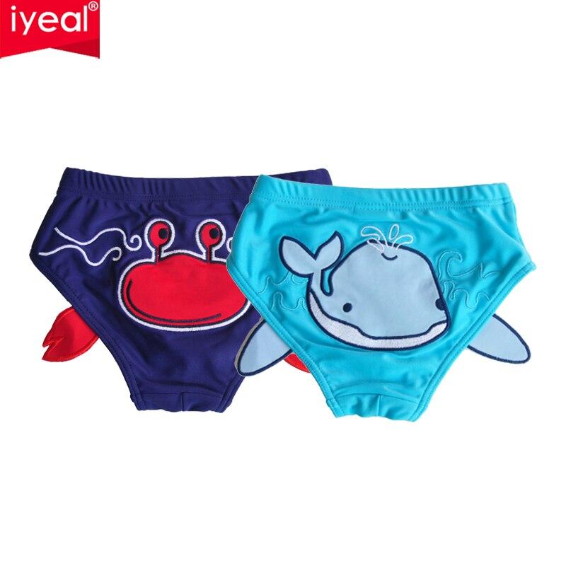 Iyeal 2 pçs/lote alta qualidade bebê banho moda nadar fralda meninas/meninos maiô infantil natação crianças maiô com shorts
