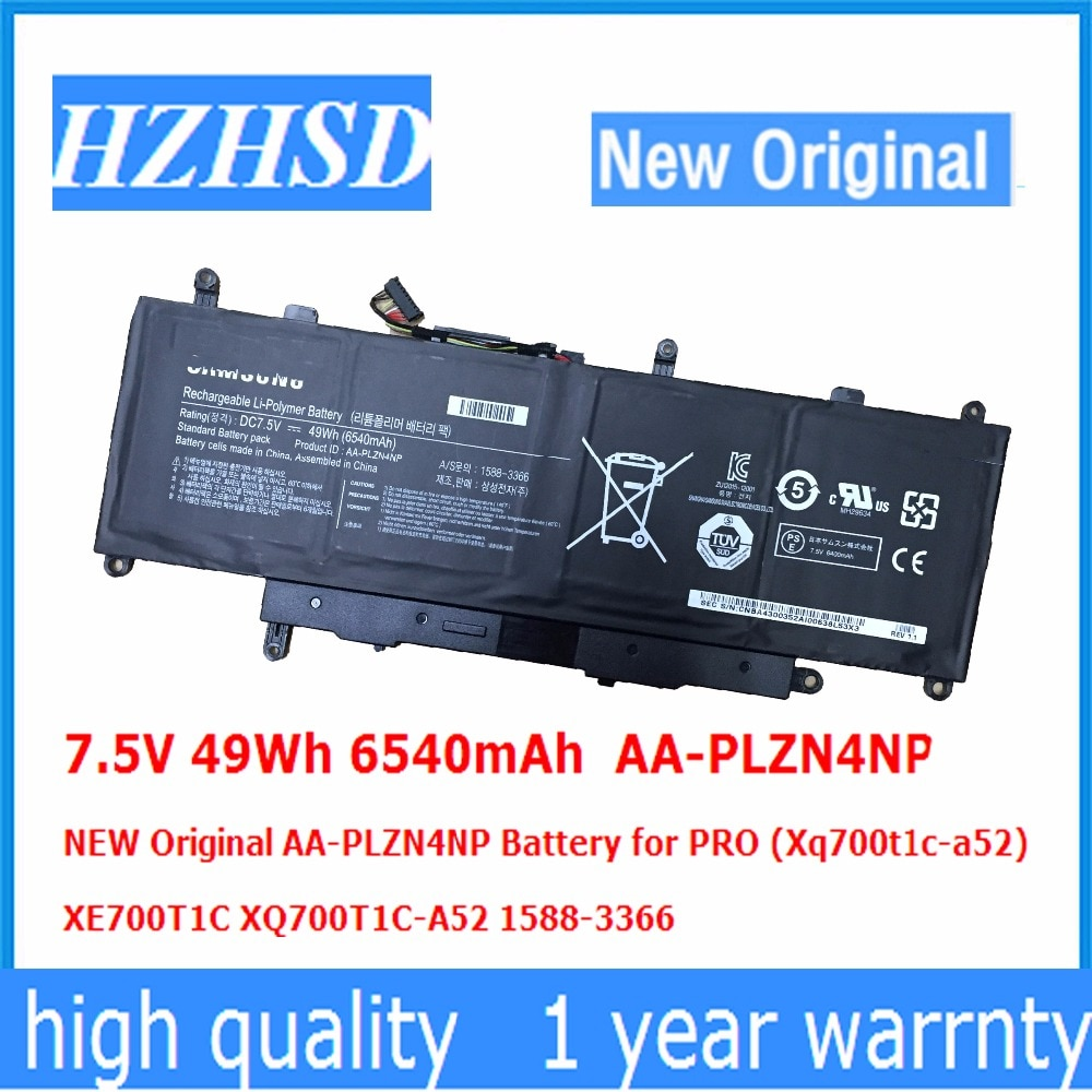 7.5V 49Wh 6540mAh AA-PLZN4NP جديد الأصلي AA-PLZN4NP البطارية لسامسونج برو (Xq700t1c-a52) XE700T1C XQ700T1C-A52 1588-3366