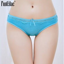 FUNCILAC 5 Pcs/set Sexy Women's Panties Cotton Briefs for Women Lace Lingerie Hollow out Shorts Low waist Ladies Underwear Bow